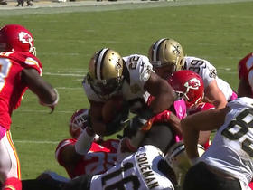 Watch: Ron Parker punches ball out of Mark Ingram's hands