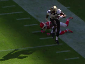 Watch: Drew Brees finds Michael Thomas for 26-yard gain