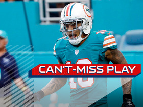 Watch: Can't-Miss Play: Bills defenders collide as Kenny Stills goes for a 66-yard TD