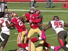 Watch: Jude Adjei-Barimah sacks Colin Kaepernick, forces fumble