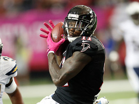 Watch: Falcons call time out after Jones 11-yard catch