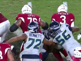 Watch: Palmer sacked for loss of 7 yards