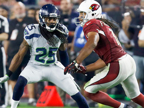 Watch: Sherman forces incompletion after hit on Fitzgerald
