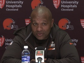 Watch: Hue Jackson: 'We are not going to trade Joe Thomas'