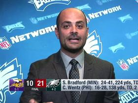 Watch: Garafolo: Eagles happy how Defense answered the bell