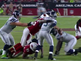 Watch: Chandler Jones pressures Russell Wilson