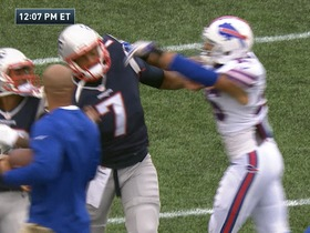 Watch: Patriots and Bills get into skirmish during warm ups