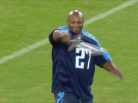 Watch: Eddie George waves around sword