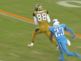 Watch: Hurns gains 31 yards on pass from Bortles