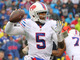 Watch: Tyrod Taylor escapes the pressure and finds Jerome Felton for 22 yards