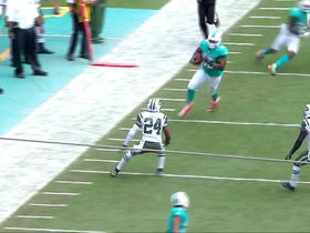 Ryan Tannehill rolls out, hits Dominique Jones for 24 yards