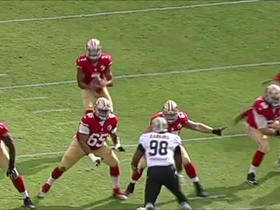McDonald catches a bullet pass from Kaepernick