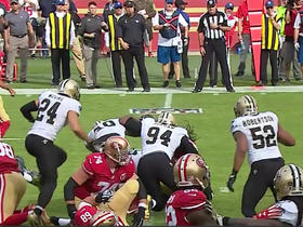 Saints defense stuffs DuJuan Harris on 4th down