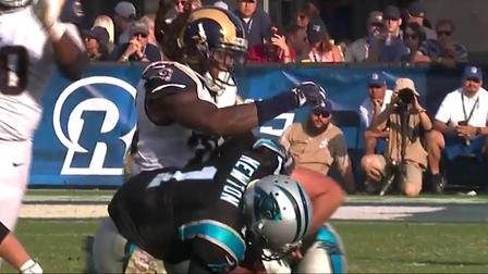 cheap for discount 28cf8 acf22 Mark Barron lays the boom on Cam Newton for the sack - NFL ...