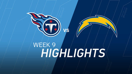 Week 9 Titans Vs Chargers Highlights Nfl Videos