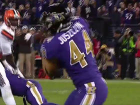 Flacco converts two-point conversion on pass to Juszczyk