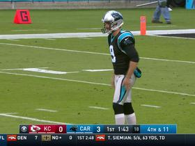 Graham Gano punts in place of the injured Andy Lee