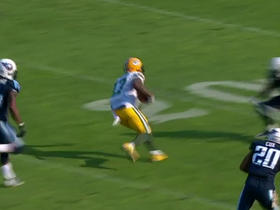 Davante Adams grabs a reception for a gain of 38-yards