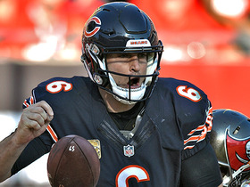 Cutler fumbles on sack, play ruled a safety on bizarre sequence