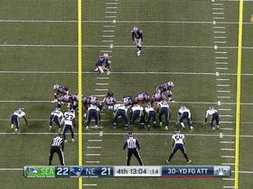 Stephen Gostkowski makes 30-yard FG