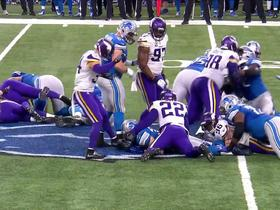 Brian Robison helps stuff Zach Zenner on fourth down