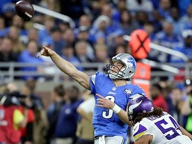 Matthew Stafford works magic, hangs in to complete 29-yard pass