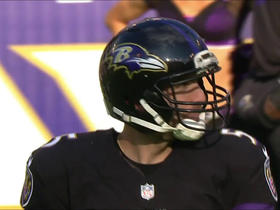 Joe Flacco pass tipped and intercepted