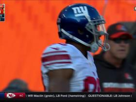 Eli Manning finds Victor Cruz down the sideline for 37 yards