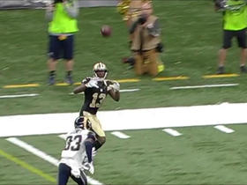 Watch: Drew Brees connects with Michael Thomas for a 21-yard touchdown