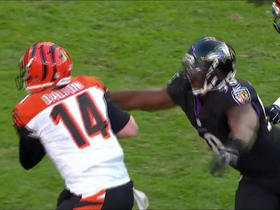 Andy Dalton strip sacked by Elvis Dumervil