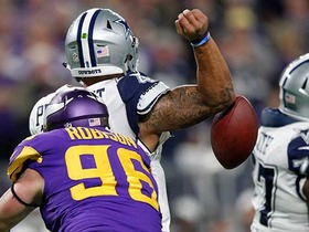 Watch: Prescott strip sacked, Vikings recover