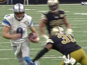 Watch: Matthew Stafford jukes past defenders for big yardage