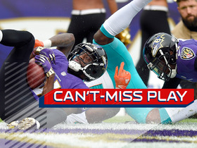 Watch: Can't-Miss Play: Lardarius Webb somehow comes up with interception in end zone