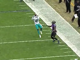 Watch: Joe Flacco gives it right back to Miami on interception by Byron Maxwell