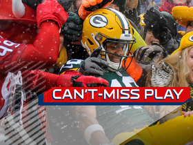 Watch: Can't-Miss Play: Rodgers scrambles, finds Cobb in traffic for TD