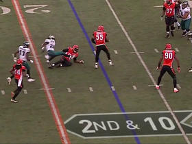 Watch: Carson Wentz picked off by Vontaze Burfict