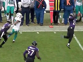 Watch: Ryan Tannehill picked off by Jerraud Powers