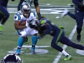 Watch: Jonathan Stewart fumbles after nice run, Seahawks recover