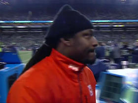 Watch: Marshawn Lynch joins 'Hawks sideline