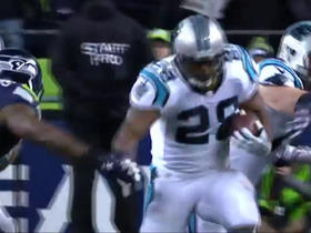Watch: Jonathan Stewart exploits hole, gains 29 yards