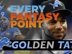 Every Golden Tate Fantasy Point