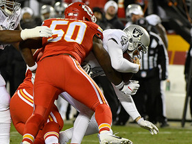 Watch: Derek Carr sacked for loss of 8 yards