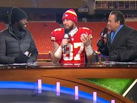 Watch: Kelce after Chiefs wins: I want to be the best tight end in the league