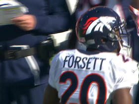 Justin Forsett fumbles on first carry with the Broncos