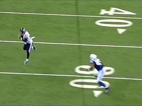 Andrew Luck's receiver slips, Quintin Demps picks off pass