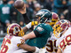 Watch: Carson Wentz fumbles; recovered by Redskins to end the game
