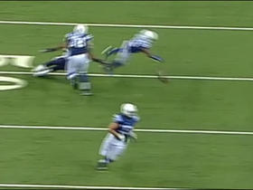 Luck throws bad pass to Turbin on fourth down