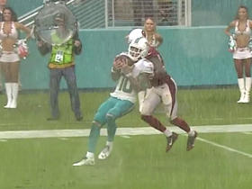 Matt Moore hangs in the pocket and completes pivotal 29-yard pass to Kenny Stills