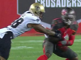 Josh Huff makes first catch as a Buccaneer for 17 yards