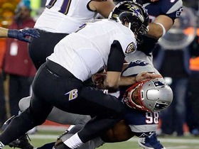 Joe Flacco sacked by Trey Flowers for loss of 10 yards